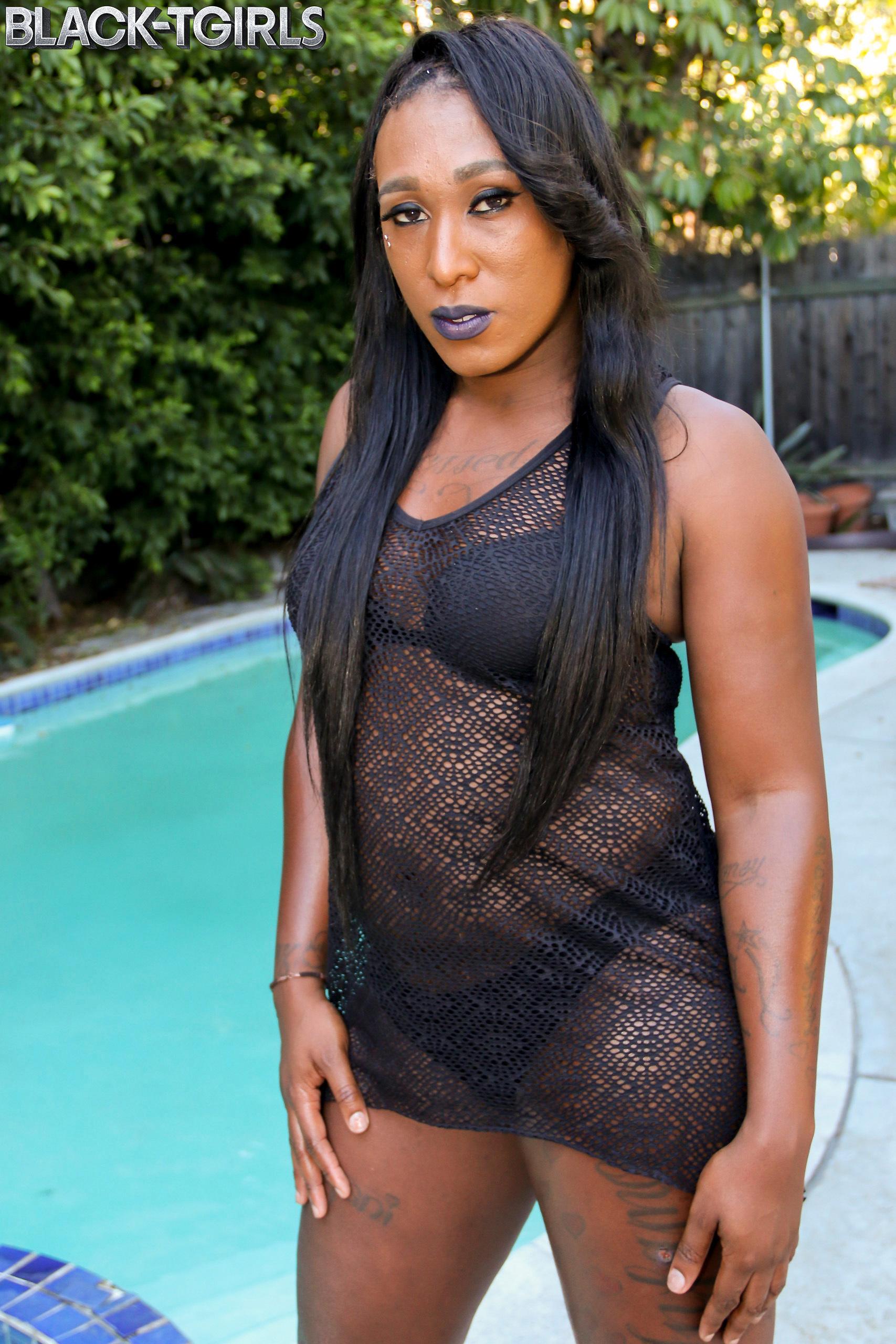 Brianna Is A Filthy Black Tranny With A Yummy Soft Body, Tiny