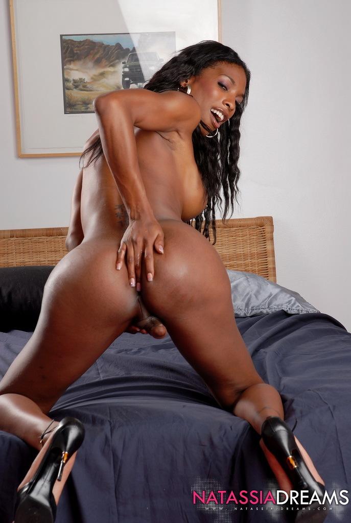 Ebony Hottie Natassia Fantasies Posing