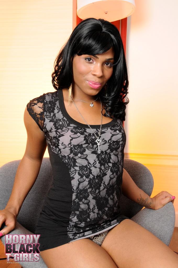 Ebony Sweetie Myla West Posing Her Yummy Body