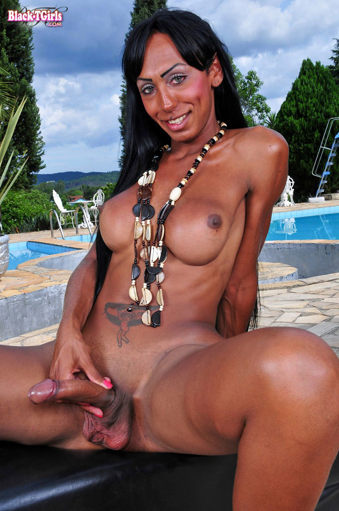 Ebony TS With A Huge Cock!