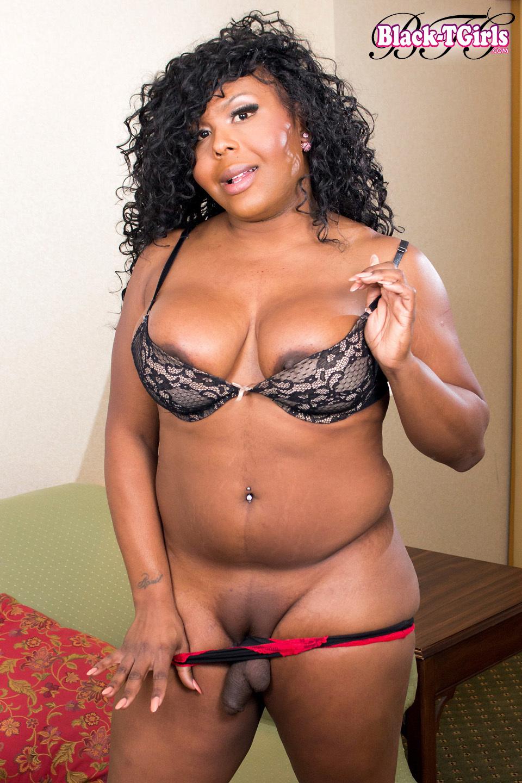 Hawaii Is A Flirtatious BBW TS With A Plump Ebony Body, Big Tits,