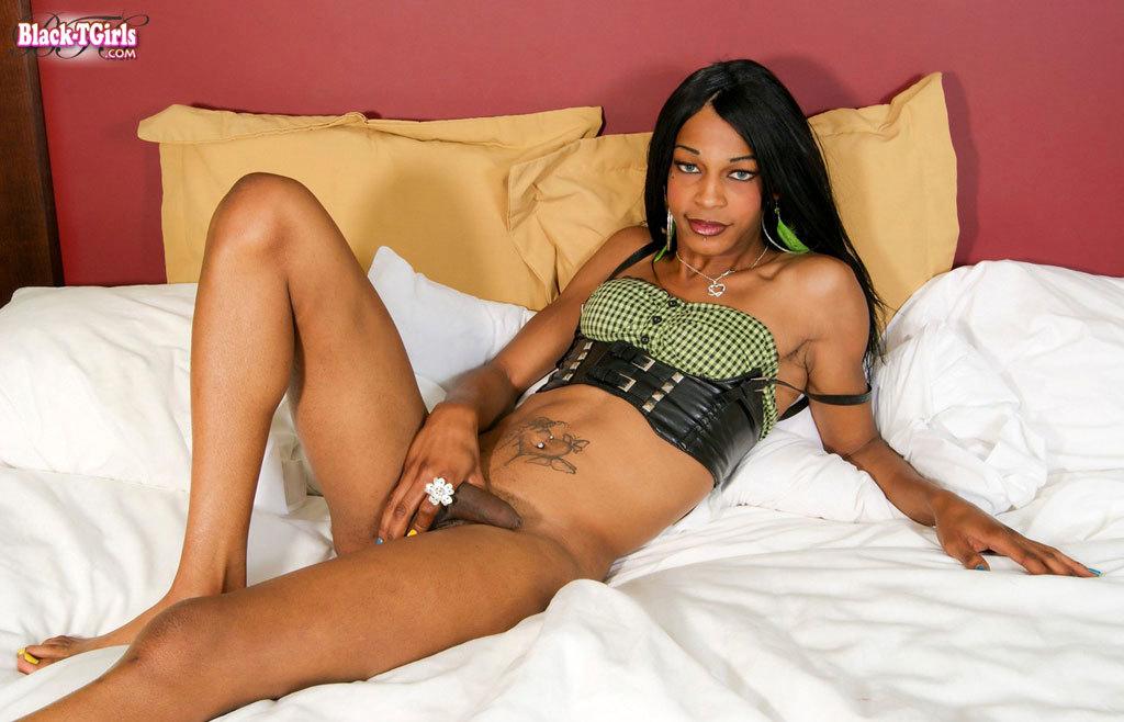 Skinny Slinky Black Transexual Babe!