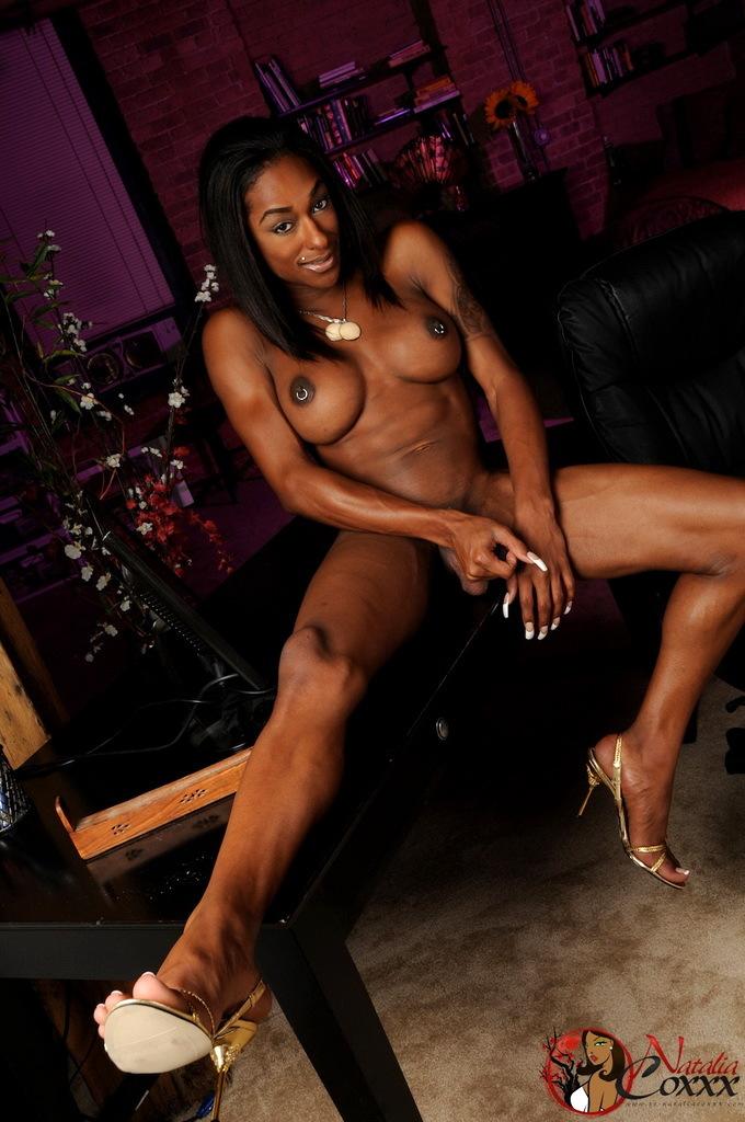 Splendid Ebony Ladyboy Goddess Natalia Coxxx Posing