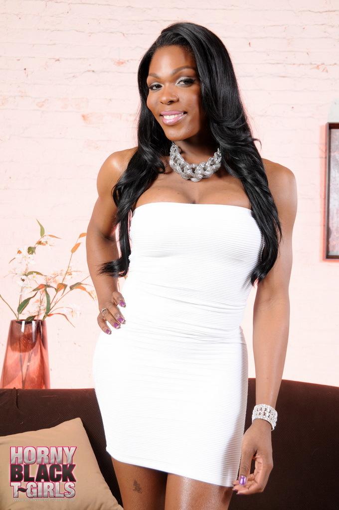Super Provocative Ebony TS Gabriella Stripping