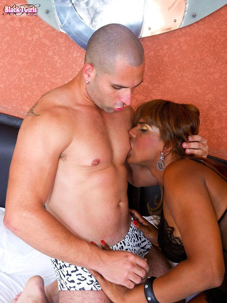 T-Girl Pounding Her Guy